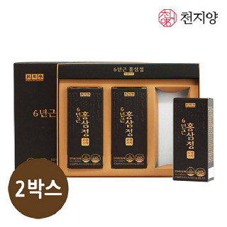 천지양 6년근 홍삼정 로얄스틱 10ml x 30포 x 2박스