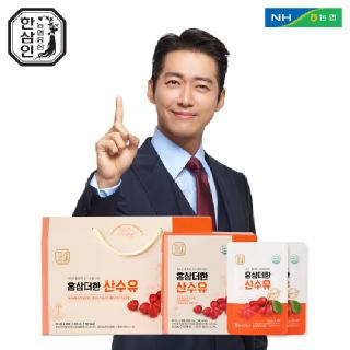 [농협홍삼 한삼인] 홍삼더한 산수유 50mlx28포 1세트+쇼핑백