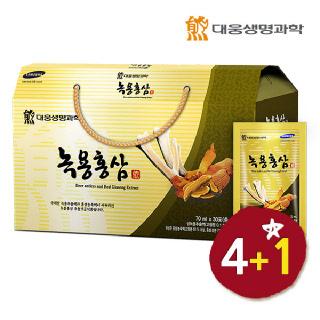 [4+1 행사] 대웅 녹용홍삼 30포*총5박스