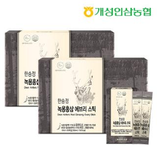 개성인삼농협 한송정 녹용홍삼 에브리스틱 30포*2박스