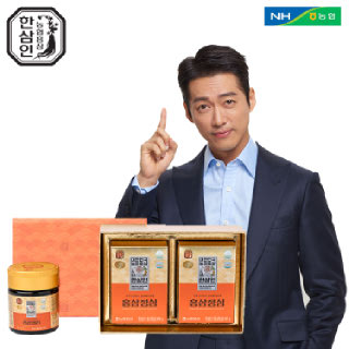 [선물포장][농협홍삼 한삼인] 홍삼정심 선물세트_100g x 2입_1세트 +쇼핑백