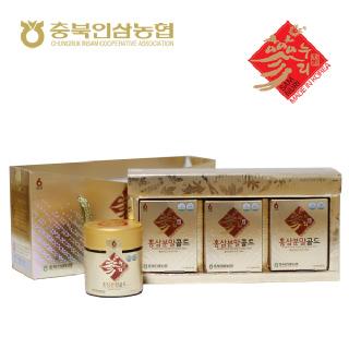 [충북인삼농협]홍삼분말골드 60g*3병