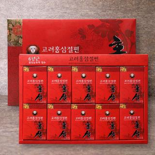 [정삼당] 6년근 고려홍삼절편 20g x 10입
