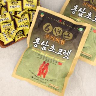 [김포파주인삼농협] 6년근 홍삼으로 만든 프리미엄 홍삼 초콜렛 200g x 3봉