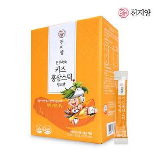 천지양 튼튼쑥쑥 키즈홍삼스틱 망고맛 10mL x 100포(1,000mL)