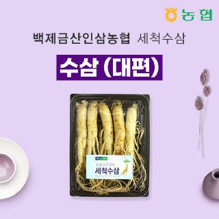 [백제금산인삼농협]세척 수삼 대편 500g 5~6뿌리