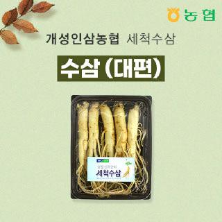 개성인삼농협 6년근 세척수삼(대편) 500g/ 5~6뿌리