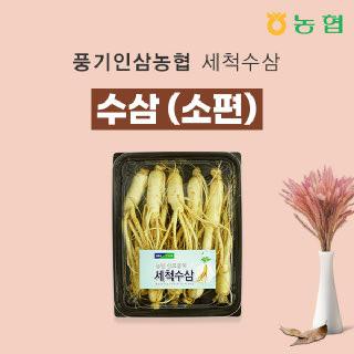 [풍기인삼농협] 6년근 세척 수삼 소편  500g/ 9~10 뿌리