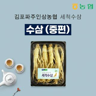 [김포파주인삼농협]세척수삼(중편)500g/7~8뿌리
