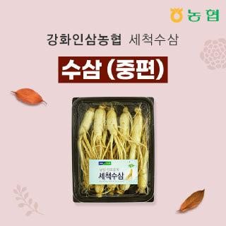 강화인삼농협 세척수삼 중편 500g / 7~8뿌리