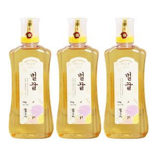 [산내들농원] 달콤 향긋 국내산 벌꿀 1kg x 3