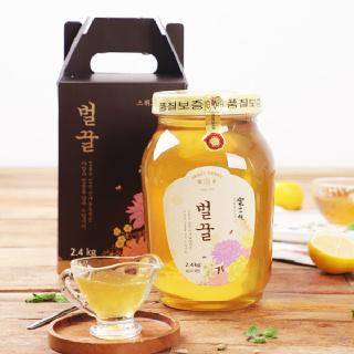 [산내들농원] 달콤 향긋 국내산 벌꿀 2.4kg