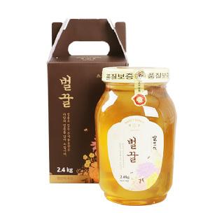 [산내들농원] 달콤 향긋 국내산 벌꿀 2.4kg x 2