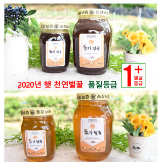 2020년 수확한 햇꿀 벌꿀세트 밤꿀  찔레꿀(야생화) 품질등급1+