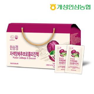 개성인삼농협 한송정 자색양배추 브로콜리 진액 70ml*30포