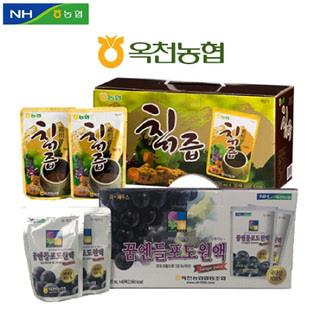 옥천농협 칡즙120ml 30봉+꿈엔들 포도원액120ml 40봉