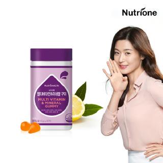[뉴트리원]전지현 멀티비타민&미네랄 60구미 /레몬맛
