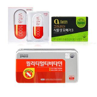 [기획상품][고려은단] 퀄리티 멀티비타민+식물성오메가3+마스크팩10매 (쇼핑백)