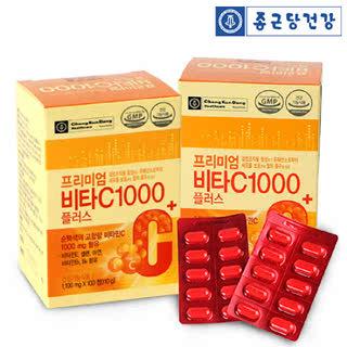 종근당건강 프리미엄 비타C 1000플러스(100정)*2박스