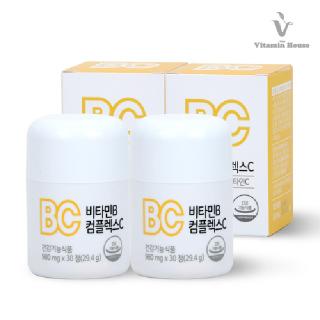 [비타민하우스]4FREE 비타민B 컴플렉스C 2병(2개월분)/ 식품첨가물제외,비타민B군 7종 합유
