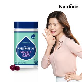 [뉴트리원] 전지현 비타민D&아연 60구미 /포도맛
