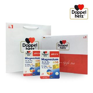 도펠헤르츠 마그네슘 400mg 30정x2개 선물세트(쇼핑백)