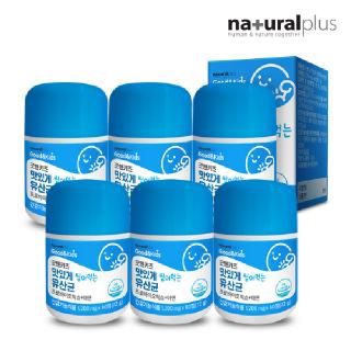 내츄럴플러스 굿앤키즈 씹어먹는 유산균 6박스 / 로셀특허 신바이오틱스 아연