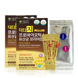 [애플트리김약사네]닥터지 프로바이오틱 유산균 프리미엄 2g×30포×2통(어린이~어른까지/지근억교수공동개발) -한국인 장에서 분리/한국형 프로바이오틱스