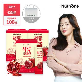 [뉴트리원]전지현 석류 더 콜라겐 젤리 14포 3박스 + 쇼핑백증정