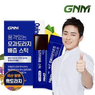 GNM 품격있는 모과 도라지배즙 젤리 스틱 1박스 (총 15포) /국산 발효 흑도라지