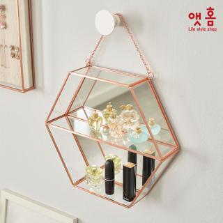 앳홈 육각형 수납형 벽거울