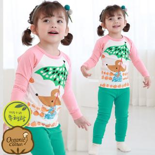 유아 실내복 아동 내의 아기 겨울 내복 / P꼬마생쥐 (20수) 오가닉 무형광