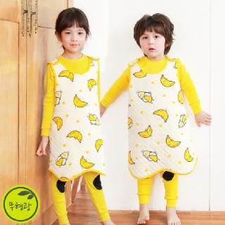 유아 어린이 보온 수면 조끼 슬리핑   M통통바나나(삼중직)