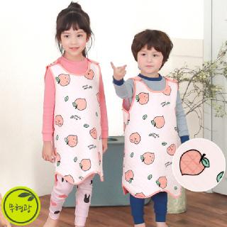 유아 아동 수면 조끼 보온  실내복 M하트피치(삼중직)