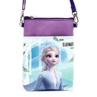 (현대Hmall)겨울왕국2 여아용 크로스백 핸드폰가방 보조가방 초등학생가방_보라민트