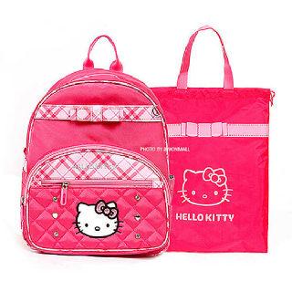 (현대Hmall)귀여운 헬로키티 신학기 초등학생 가방+보조가방 세트_핑크