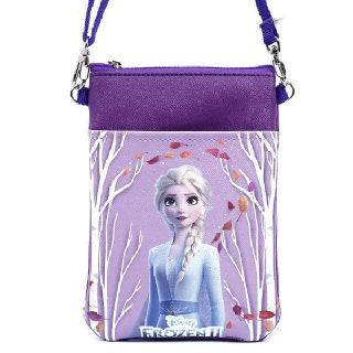 (현대Hmall)겨울왕국2 여아용 크로스백 핸드폰가방 보조가방 초등학생가방_핑크퍼플