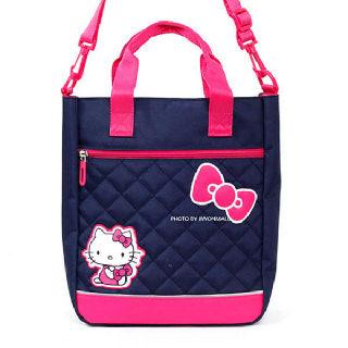 (현대Hmall)헬로키티 여아용 보조가방 신발가방 초등학생 신발주머니 가방_네이비