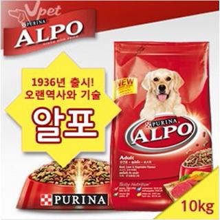 [퓨리나] 알포 성견용 애견사료 10kg 소고기 간과 야채맛
