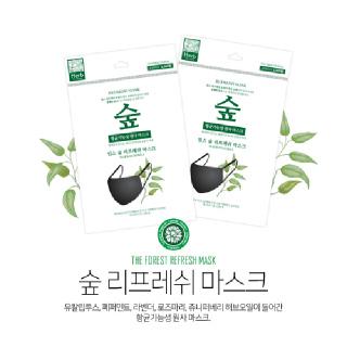 숲(면)마스크 5매 x KF94 프리텍마스크 대형 (흰색) 3p*5개