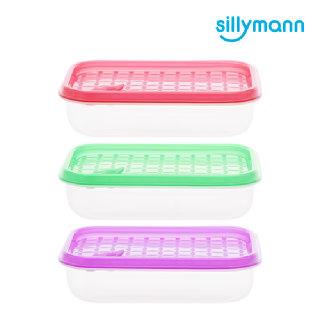 [실리만] 안심 냉동용기 직사각 390ml WSK762