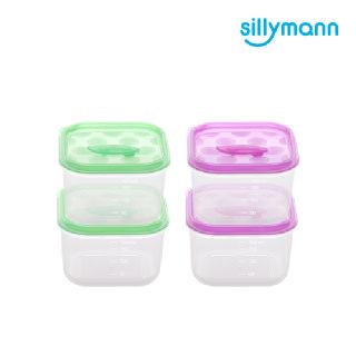 [실리만] 안심 냉동용기 정사각 180ml WSK257