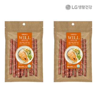 [LG 생활건강]시리우스 윌 연어 스테이크 스틱 100G 2팩/강아지수제간식