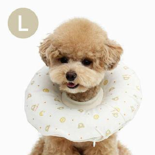 (현대Hmall)[이츠독] 오가닉 홈케어링 강아지 넥카라 곰고미L
