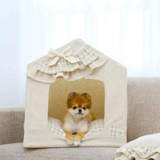 (현대Hmall)[이츠독] 코네 프레임 강아지 하우스 베이지L