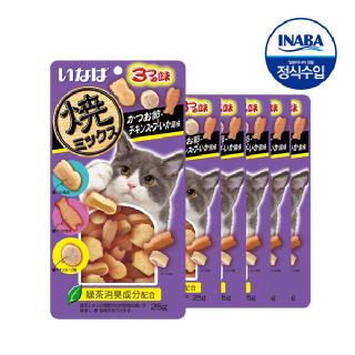 (현대Hmall)이나바 야끼믹스 가다랑어포+오징어+치킨스프맛x6  QSC122x6