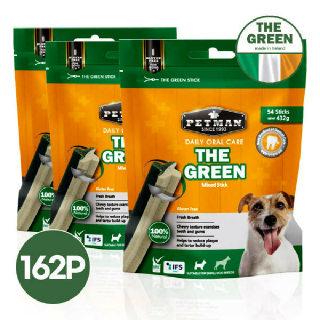 (현대Hmall)아일랜드 더그린 강아지 덴탈껌 54P X 3봉 (그린/믹스) 그레인 프리
