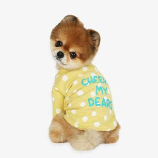 (현대Hmall)[이츠독] 치어스 강아지 면티셔츠 옐로2XL