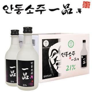 [안동소주일품] 21% 유리병 350ml*12병