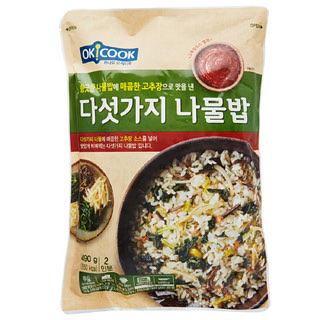 OKCOOK 다섯가지 나물밥, 490g(2인분)